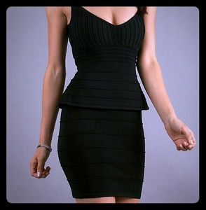 NWOT Wow Couture Short Bandage Peplum Dress